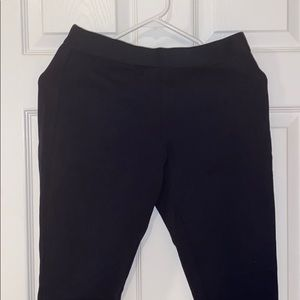 Jcrew Zip Up Navy Elastic Pants